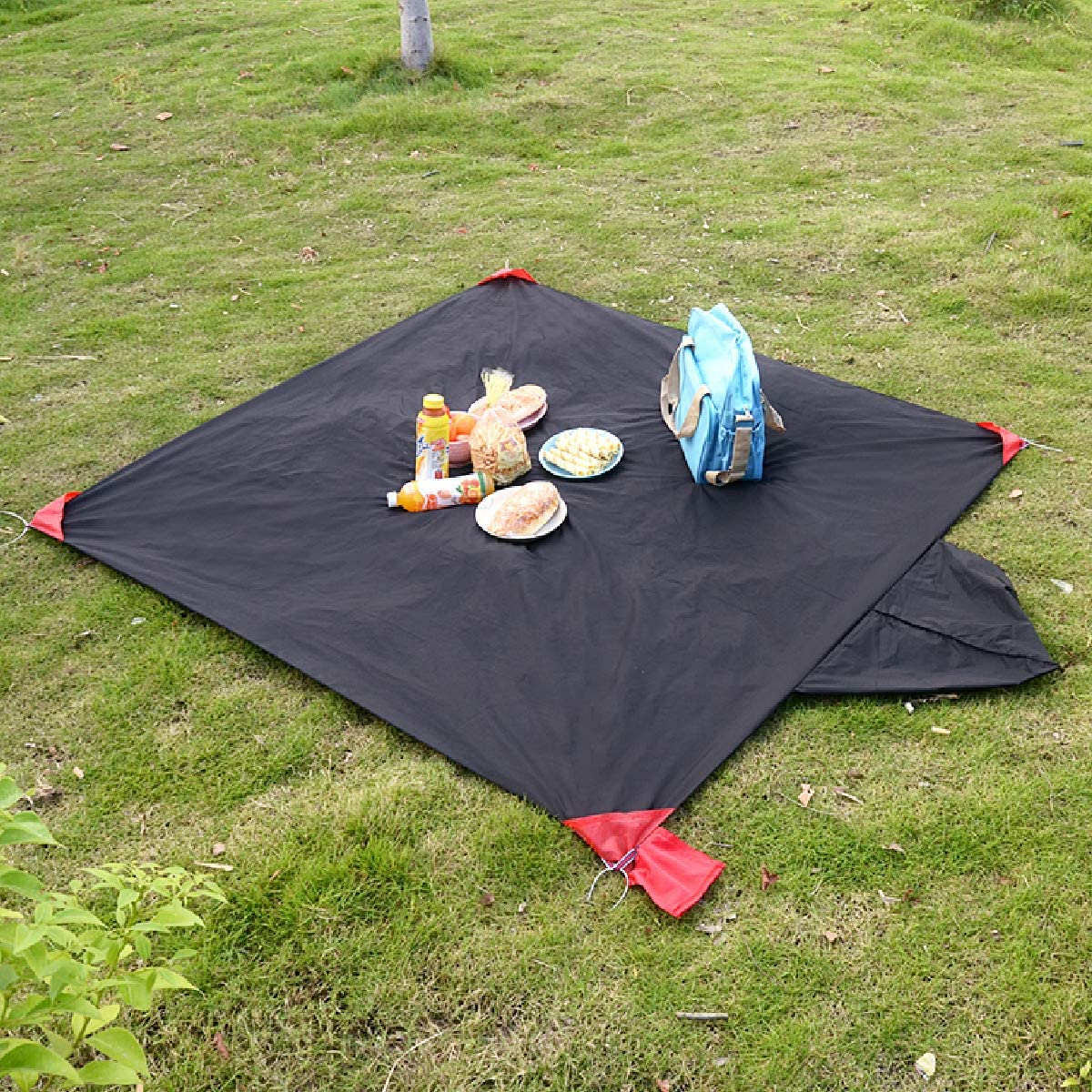 TRIWONDER Manta de Bolsillo Impermeable Plegable Lona Port/átil para Picnic Playa Camping Viaje Senderismo al Aire Libre