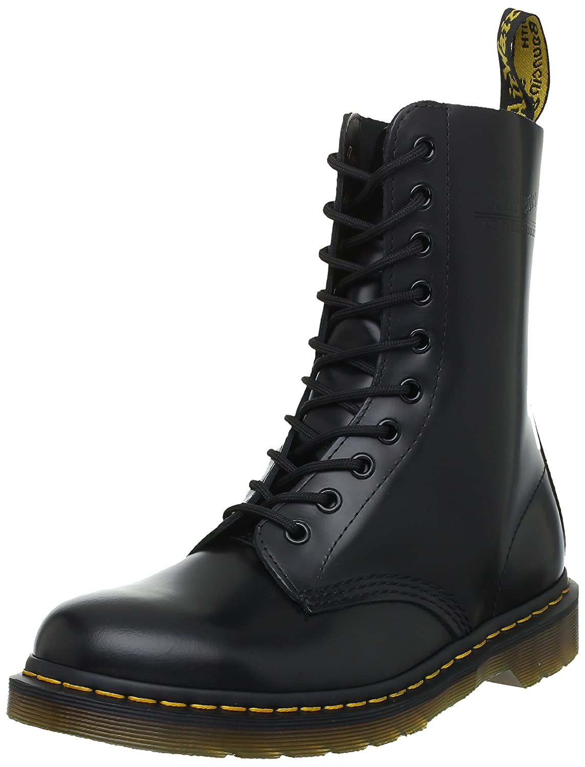 Dr. Martens Original 10 Eye Boot B000BNXECM 12 UK (US Men's 13 M/Women's 14 M)|Black Smooth