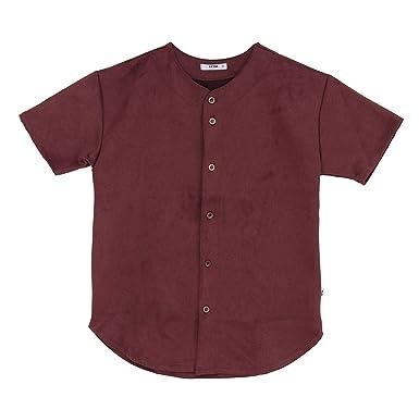 EPTM. Men s Super Heavy Suede Baseball Jersey Shirt-Burgundy-S ... 12421ecaa