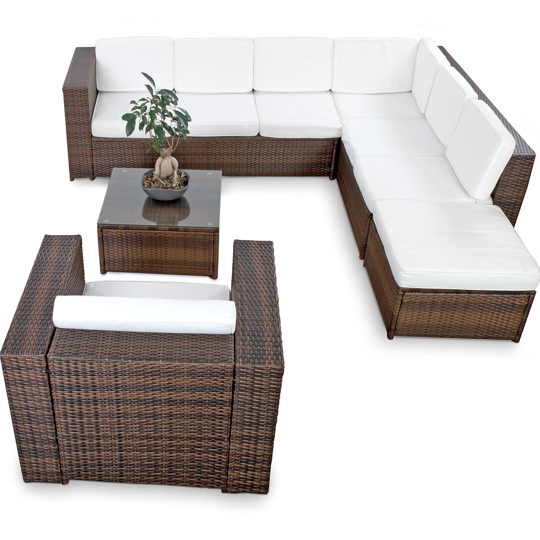 Hochwertig Polyrattan Lounge Möbel Set Gartenmöbel Günstig + 1x (1er) Lounge Sessel    Lounge Set Polyrattan Sitzgruppe Garnitur   In/Outdoor   Mit Kissen ...