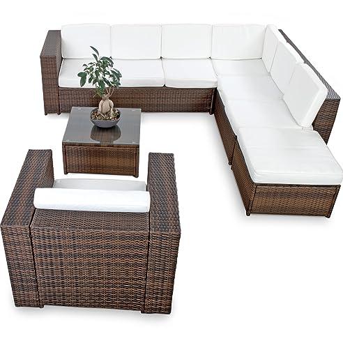Gartenmöbel günstig  Amazon.de: XINRO XXL 22tlg. Polyrattan Lounge Möbel Set ...