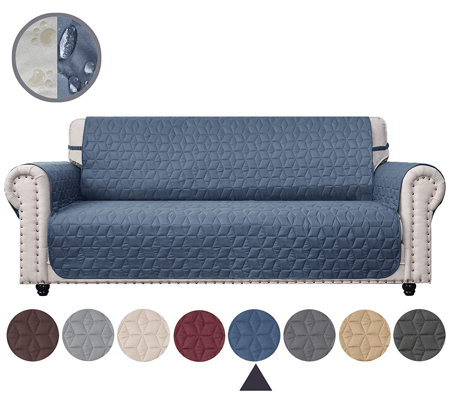Pleasing Ameritex Couch Cover With Anti Skip Dog Paw Print 100 Water Resistant Quilted Furniture Protector Slipcover For Dogs Children Pets Sofa Slipcover Andrewgaddart Wooden Chair Designs For Living Room Andrewgaddartcom