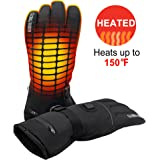 GLOBAL VASION Rechargeable Battery Heated Gloves 3 Heat 7.4V