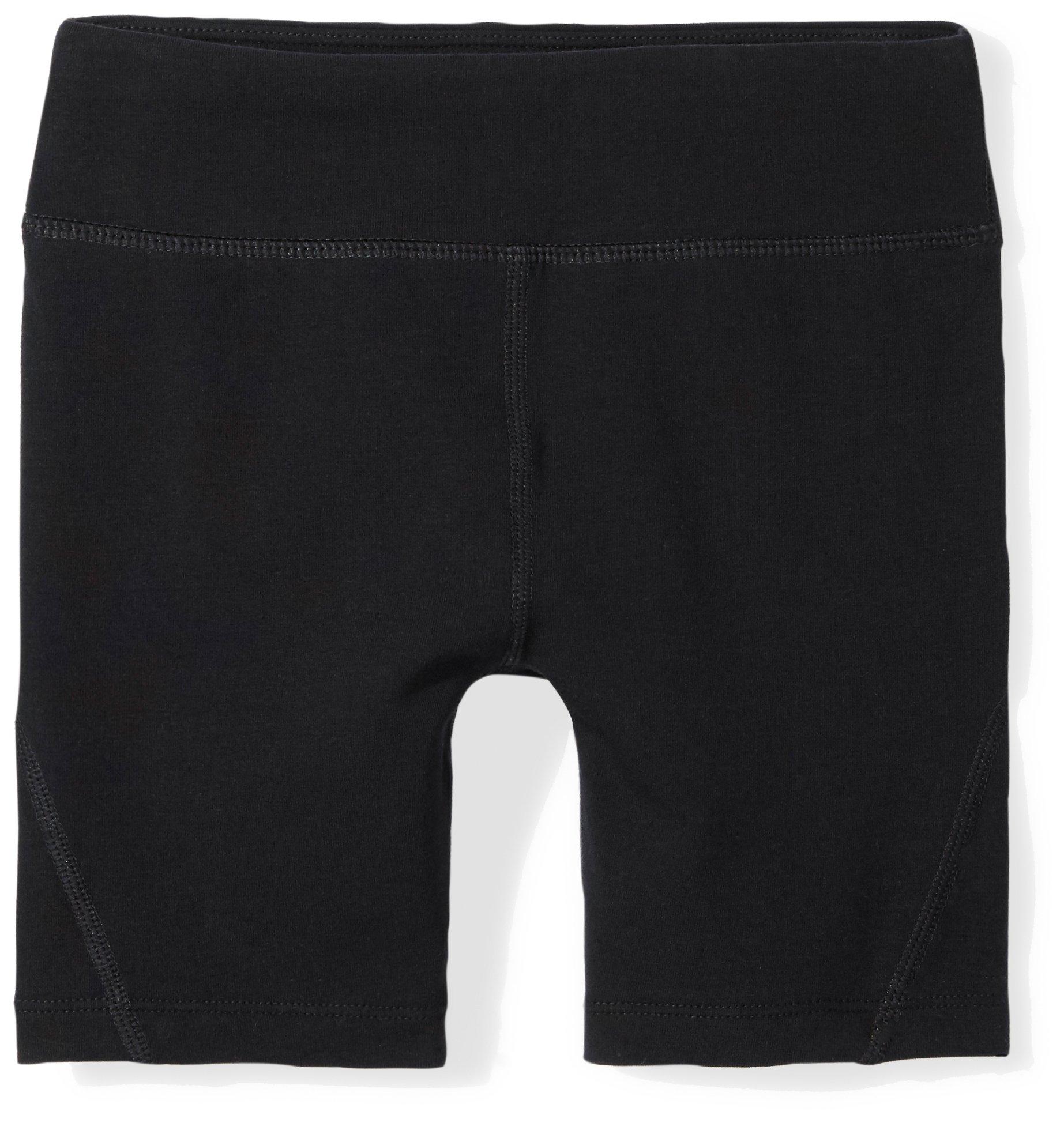 Starter Girls' 5'' Performance Cotton Training Bike Short, Prime Exclusive, Black, XL (14/16)