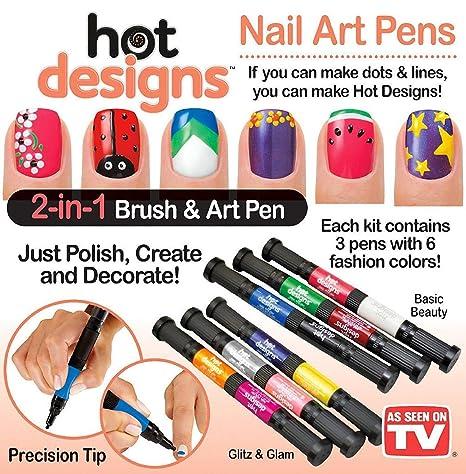 Buy Allstar Nail Art Pens Combo Set Basic Beauty And Glitz And