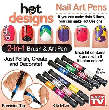 Amazon Hot Designs Nail Art Pens Combo Set Basic Beauty And