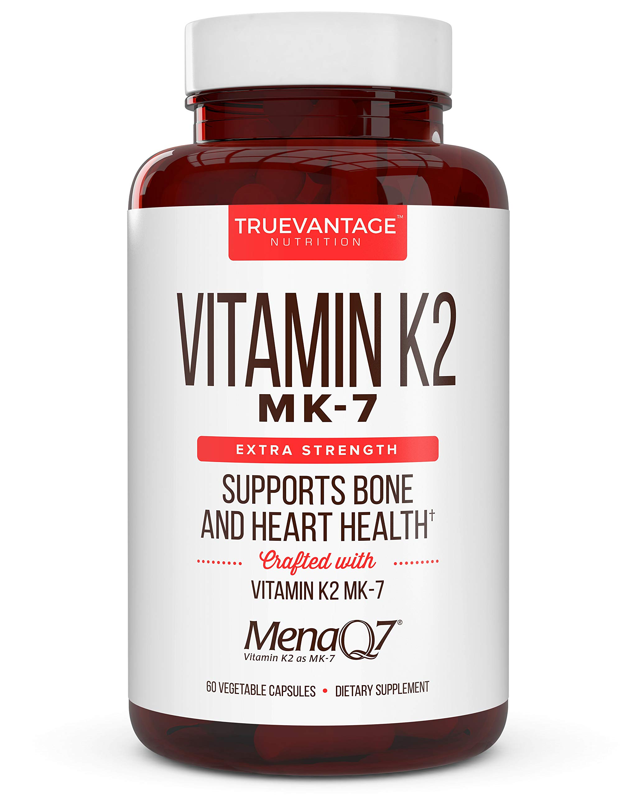 Extra Strength Vitamin K2 Supplement 180mcg - Vitamin k2 Supplement Supports Bone & Heart Health for Cardiovascular Calcium Absorption - 60 Easy to Swallow Vegan caps of Vitamin K2 MK7 (3 Pack) by Truevantage Nutrition (Image #5)