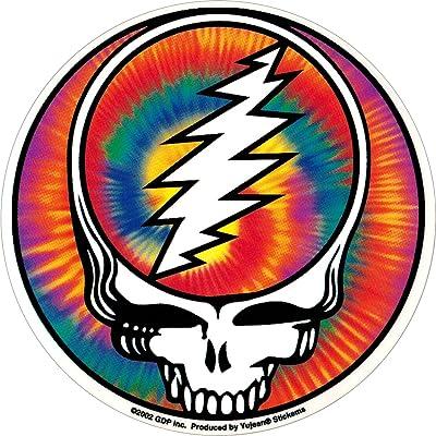 Grateful Dead - Steal Your Face Tie Dye - Sticker/Decal: Automotive