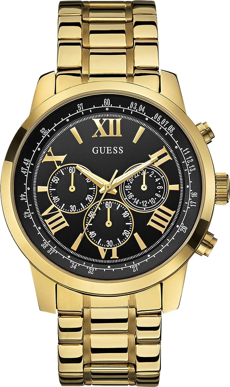 guess men s quartz watch w0379g4 metal strap amazon co uk guess men s quartz watch w0379g4 metal strap amazon co uk watches