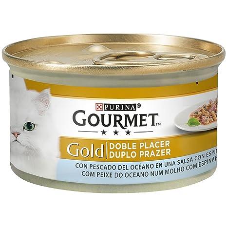 Purina Gourmet Gold Doble Placer comida para gatos de Pescado del Oceano 24 x 85 g