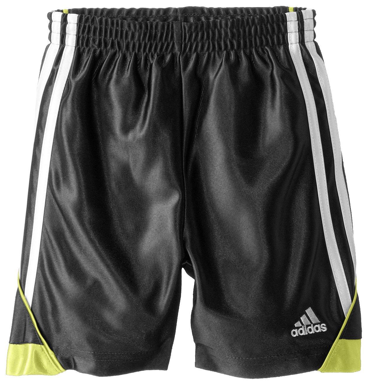 Adidas Little Boys' Speed Short, Black/Yellow, 4