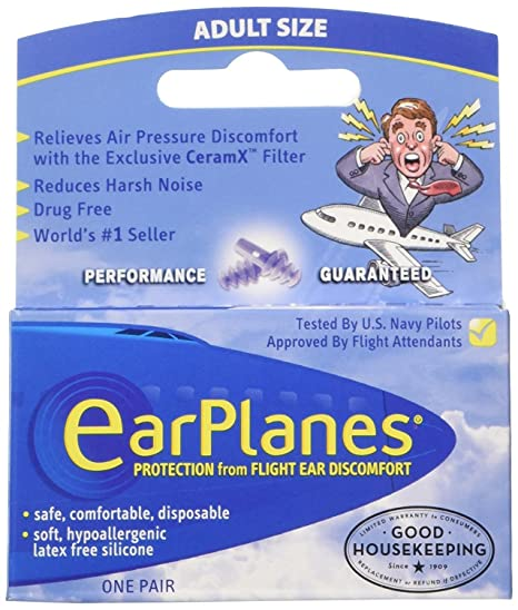 buy ear plugs - airplane travel ear protection and pain reliever (3 ...