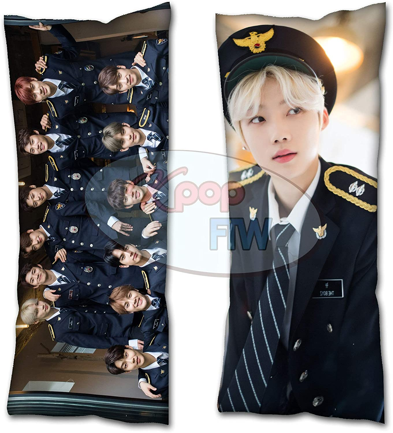 Cosplay-FTW Kpop The Boyz New Body Pillow Right Here Style 2 Cover Peach Skin Cotton Polyester Blend 40cm x 100cm Set of 1, CASE ONLY