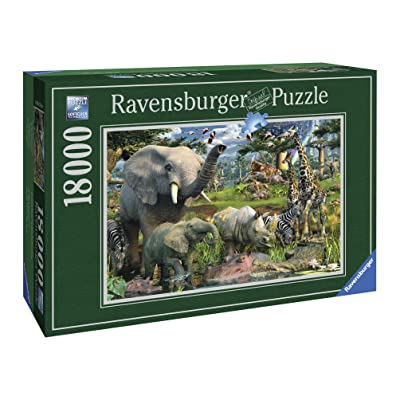 Ravensburger at The Waterhole - 18000 Piece Jigsaw Puzzle for Adults – Softclick Technology Means Pieces Fit Together Perfectly: Toys & Games