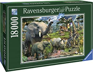 Ravensburger at The Waterhole - 18000 Piece Jigsaw Puzzle for Adults – Softclick Technology Means Pieces Fit Together Perfectly