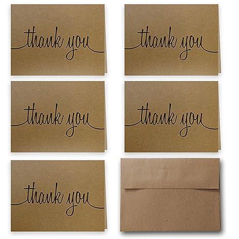 Amazon.com: Tarjetas de agradecimiento 100% recicladas con ...