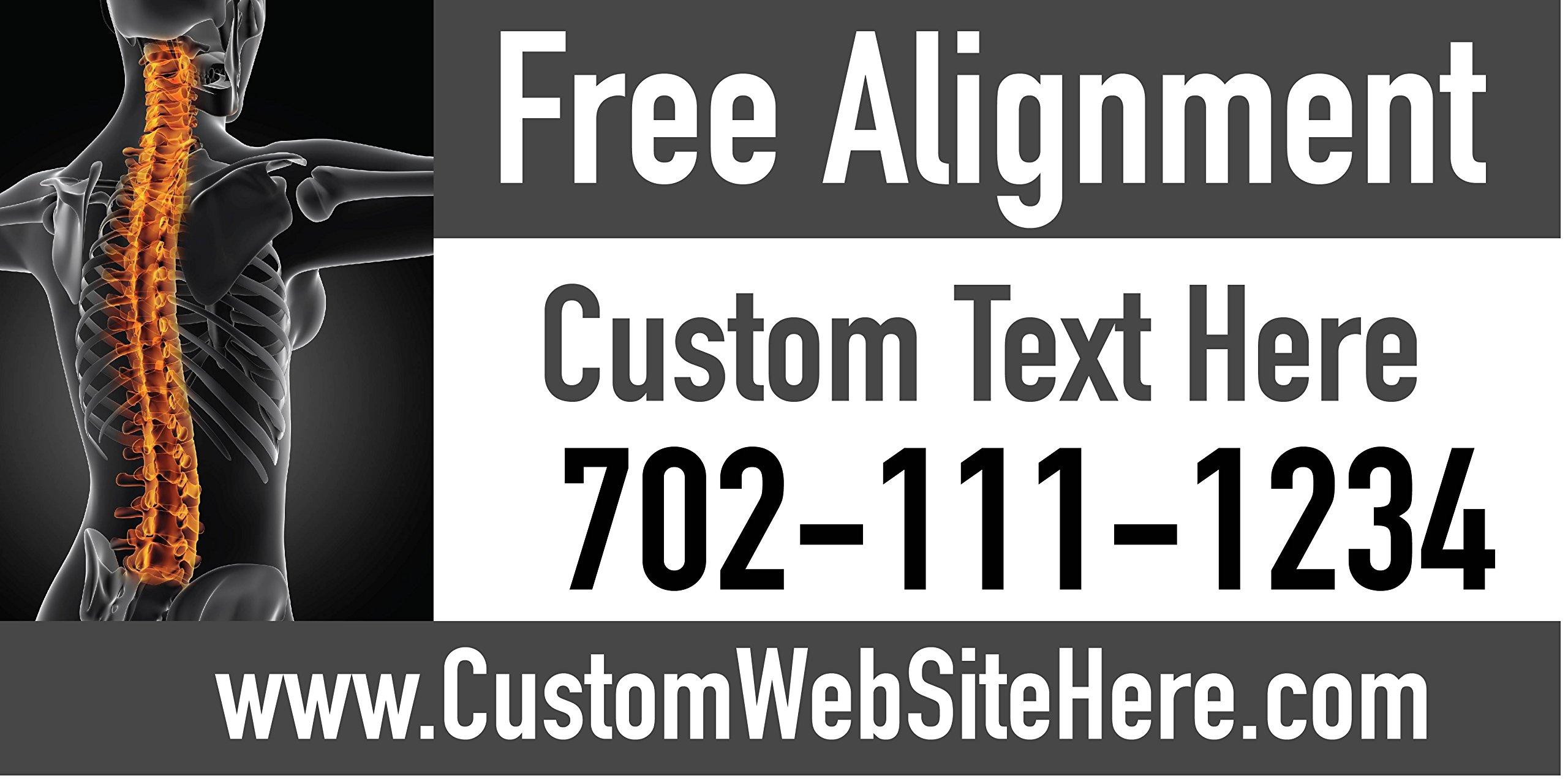 Custom Printed Chiropractic Banner - Free Alignment (10' x 5')