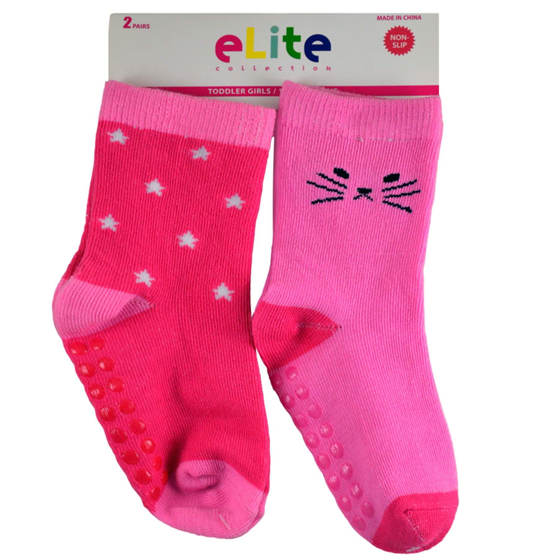 (72 Socks) Elite Girls Socks Toddlers Assorted Sizes by Elite Socks