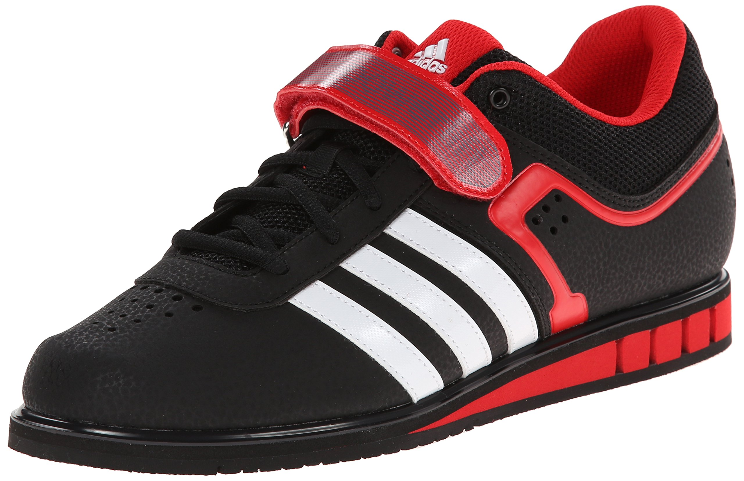 quality design 9d579 4619a Galleon - Adidas Mens Powerlift.2-M, BlackWhiteVivid Red, 15