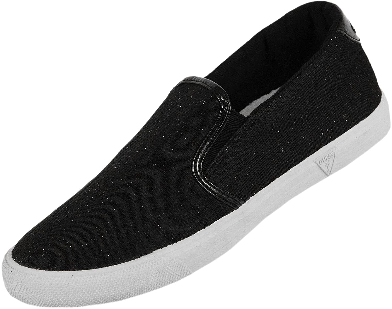b16f49df4e40 GUESS Glitter Canvas Plimsolls Black: Amazon.co.uk: Shoes & Bags