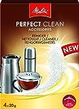 Melitta 196265 Reinigungspulver für Kaffee- und Teekannen, 4 Beutel je 20 g, Perfect Clean