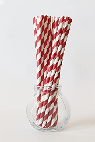 Amazon Com Red And White Paper Straws Valentines Day Party Circus