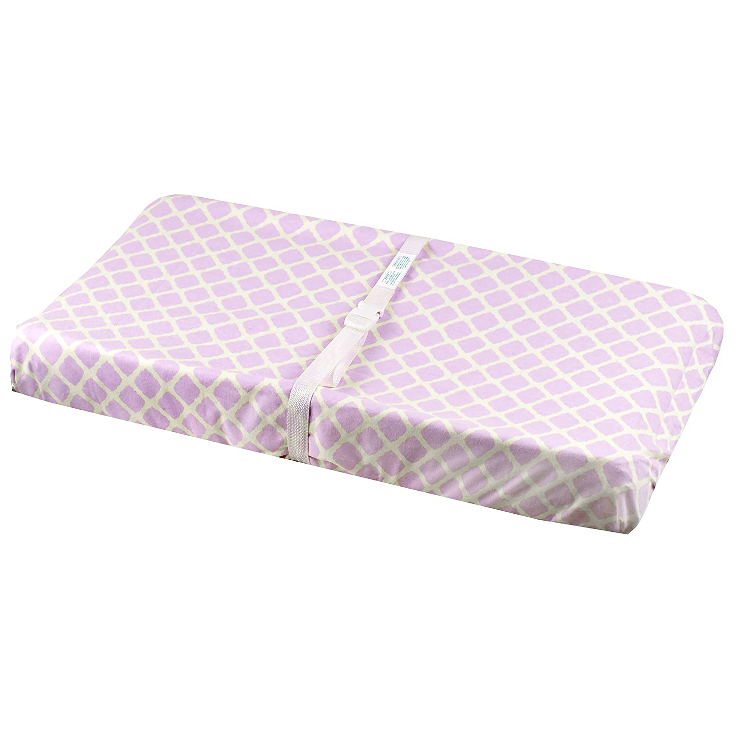 Ben /& Noa Flannel Fitted Change Pad Sheet with Slits for Safety Straps Natural Solid
