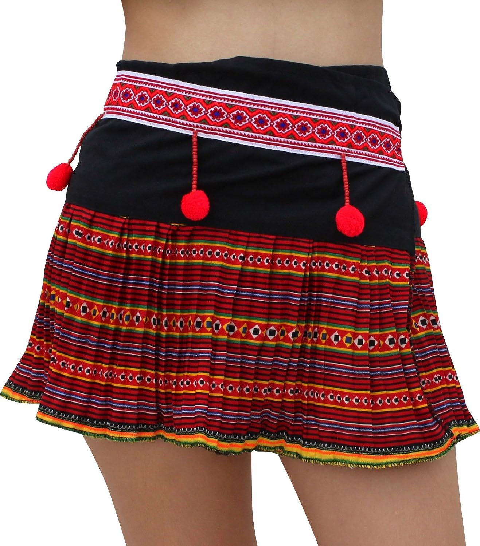 Full Funk Hand Made Thailand Hmong Hill Tribe Short Wrap Mini Skirt