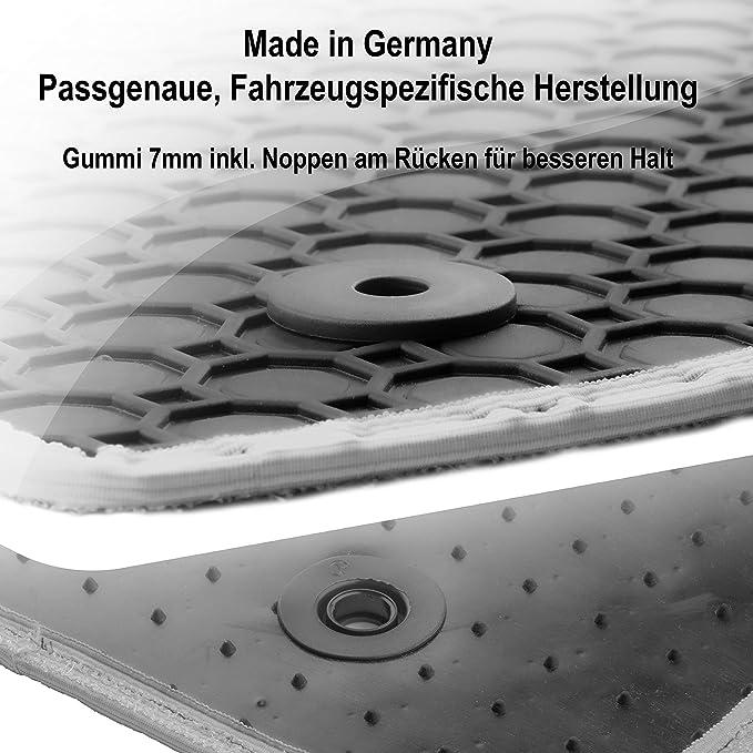 Gummimatten Auto Fußmatten Schwarz Passgenau Rand Band Grau Os 1444 Auto