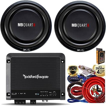 Rockford Fosgate R300X4 300W 4 CH Prime Class A//B Car Amplifier 8Gague AMP KIT