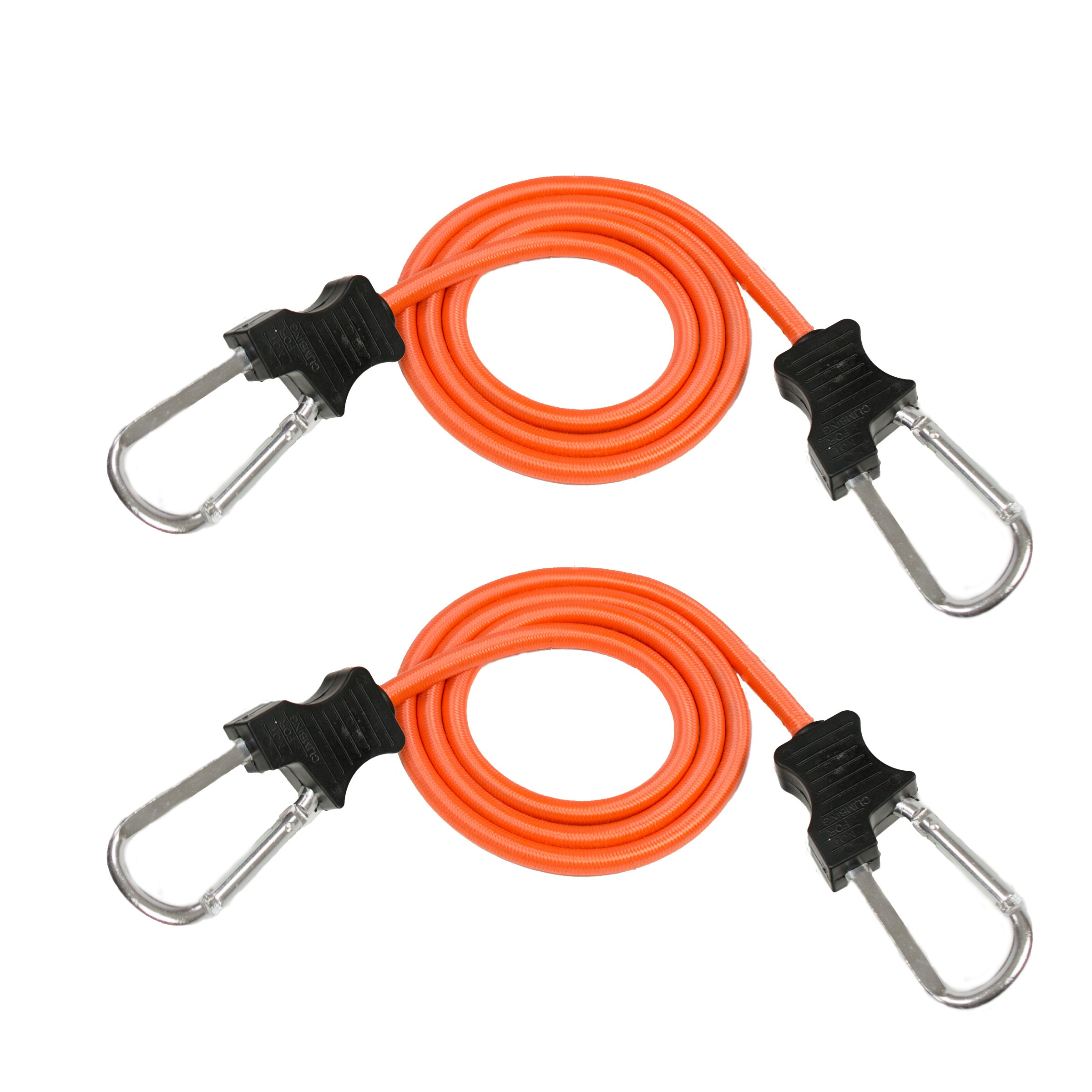 2 pack 48 inch Carabiner Bungee Cords Cargo, Vehicle, Camping, Luggage with Clips
