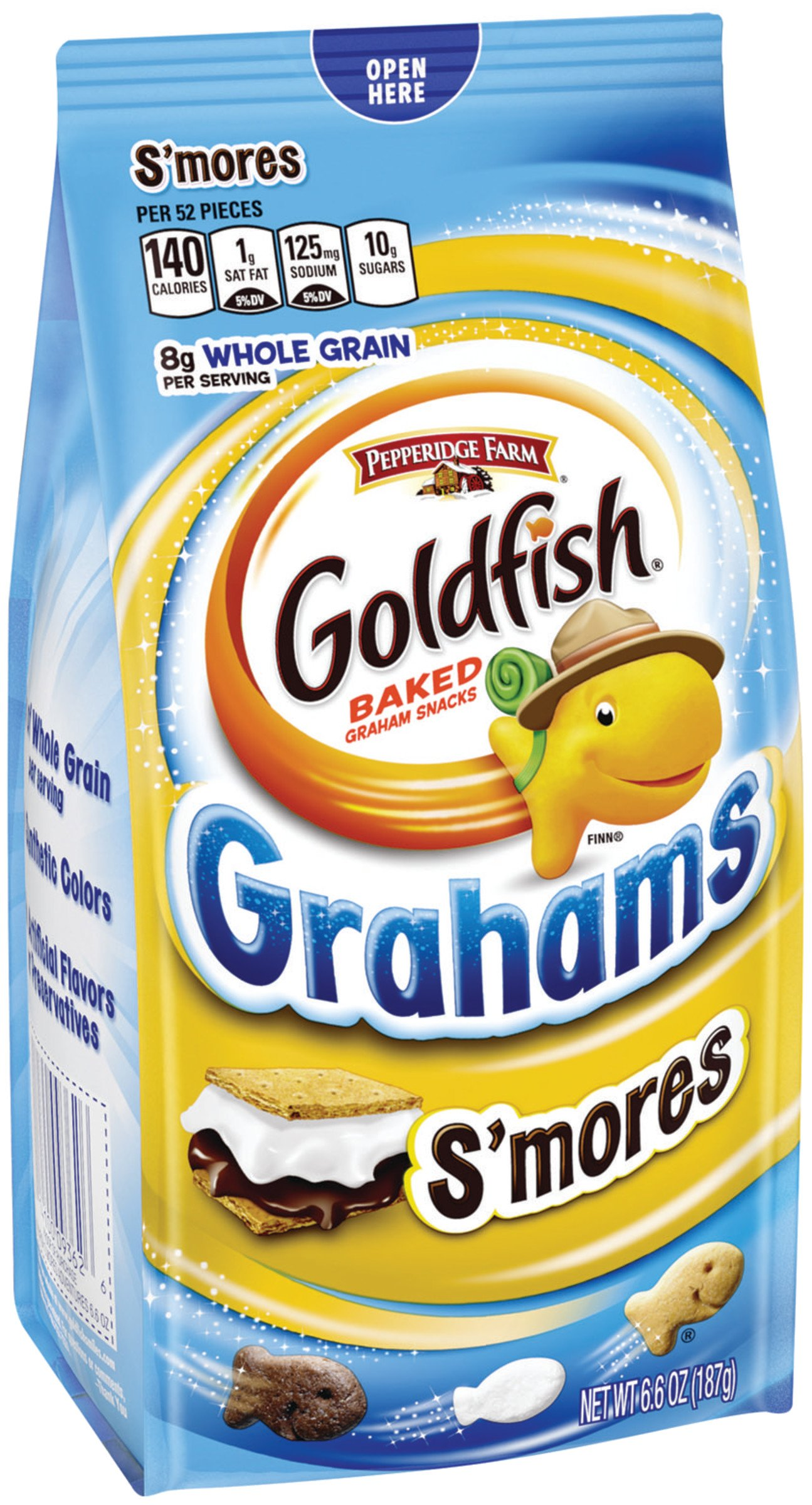 Pepperidge Farm, Goldfish, Grahams, Crackers, S'mores, 6.6 oz, Bags, 24-count