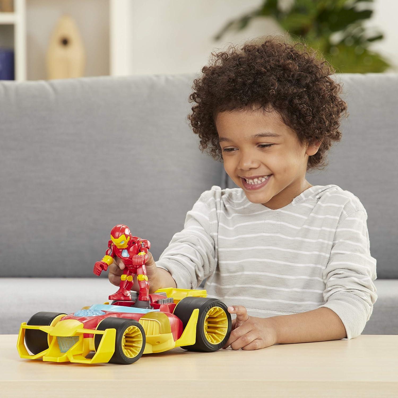 Marvel Super Hero Adventures Iron Man Speedster Vehicle Playset NEW