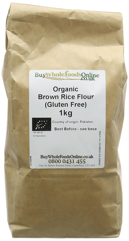 Buy Whole Foods Online Organic Gluten Free Brown Rice Flour Stoneground 1 kg