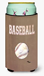 Caroline's Treasures 8485TBC Baseball Tall Boy Beverage Insulator Beverage Insulator Hugger, Tall Boy, multicolor