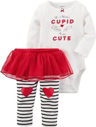 c6f1cd896 Amazon.com: Carter's 2 Piece Bodysuit and Tutu Pants Set Newborn: Clothing