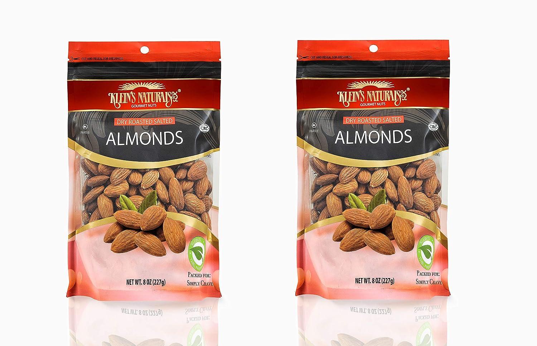 Kleins Naturals Almendras asadas, ligeramente saladas ...