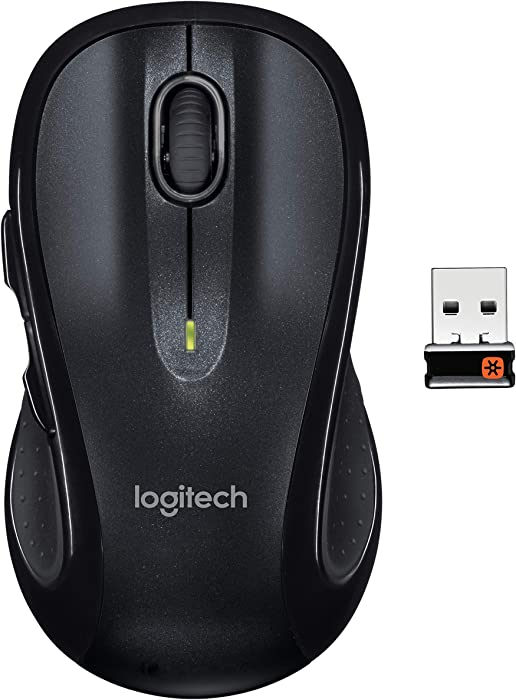 Logitech M510 Wireless Mouse-Black (Renewed)