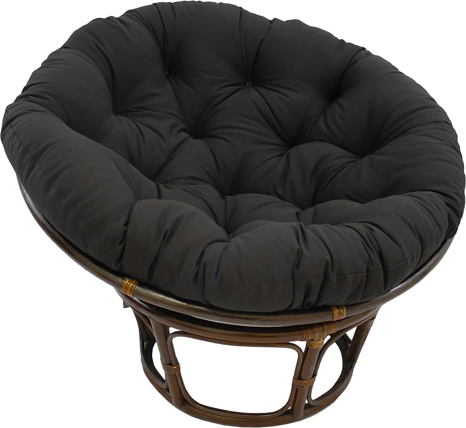 Amazon Com Blazing Needles Papasan Cushion 44 X 6 X 44 Black Home Kitchen