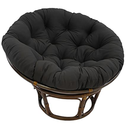 Blazing Needles Solid Twill Papasan Chair Cushion, 44u0026quot; X 6u0026quot; ...