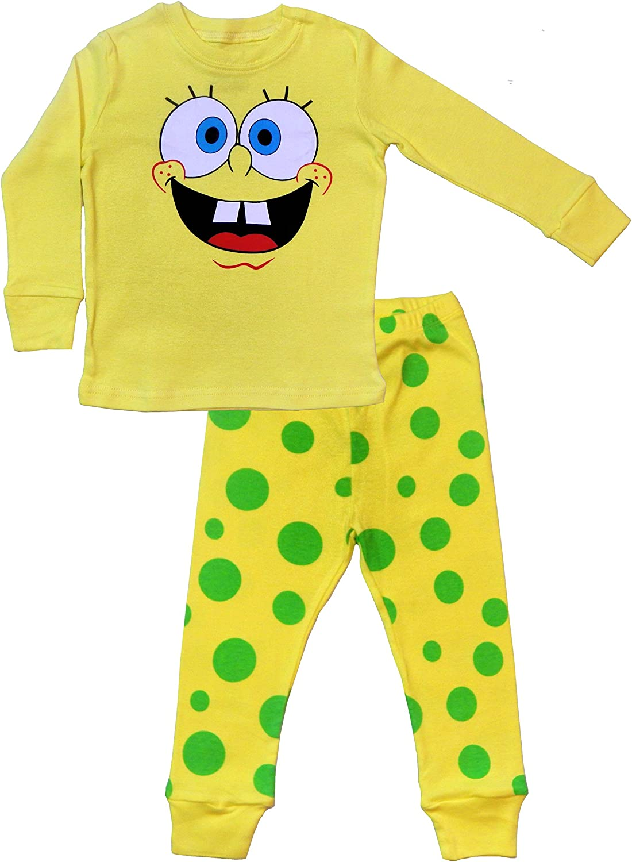 100/% Cotton TinaLuLing Boys Spongebob Pajamas