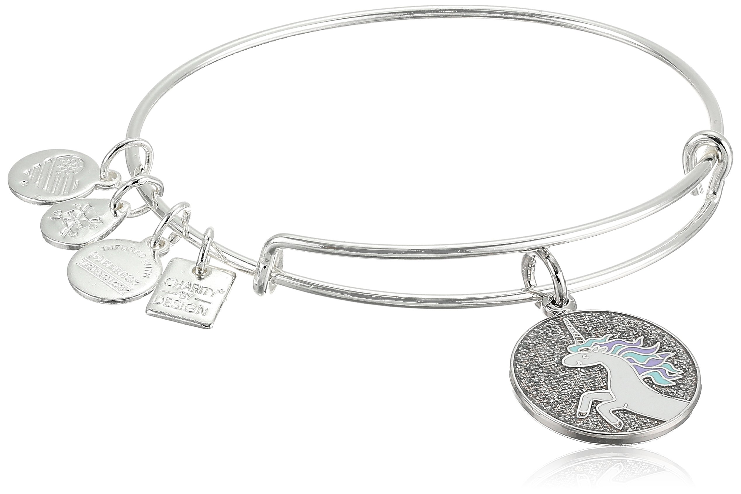 Alex and Ani Unicorn Expandable Shiny Silver Bangle Bracelet