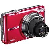 """Fujifilm FinePix JV300 - Cámara compacta de 14 Mp (pantalla de 2.7"""", zoom óptico 3x, estabilizador de imagen), color rojo"""