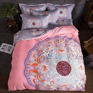 Love Cloud Vintage Ethnischen Stil Bettwäsche Baumwolle Druck Duvet Set  Schlafzimmer Set 4 Stücke 1 Bettbezug