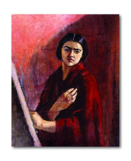 8b9378acba20 Tamatina Canvas Paintings - Self Portrait - Amrita Sher Gil - Modern Art  Paintings - Paintings for Home Décor - Paintings ...