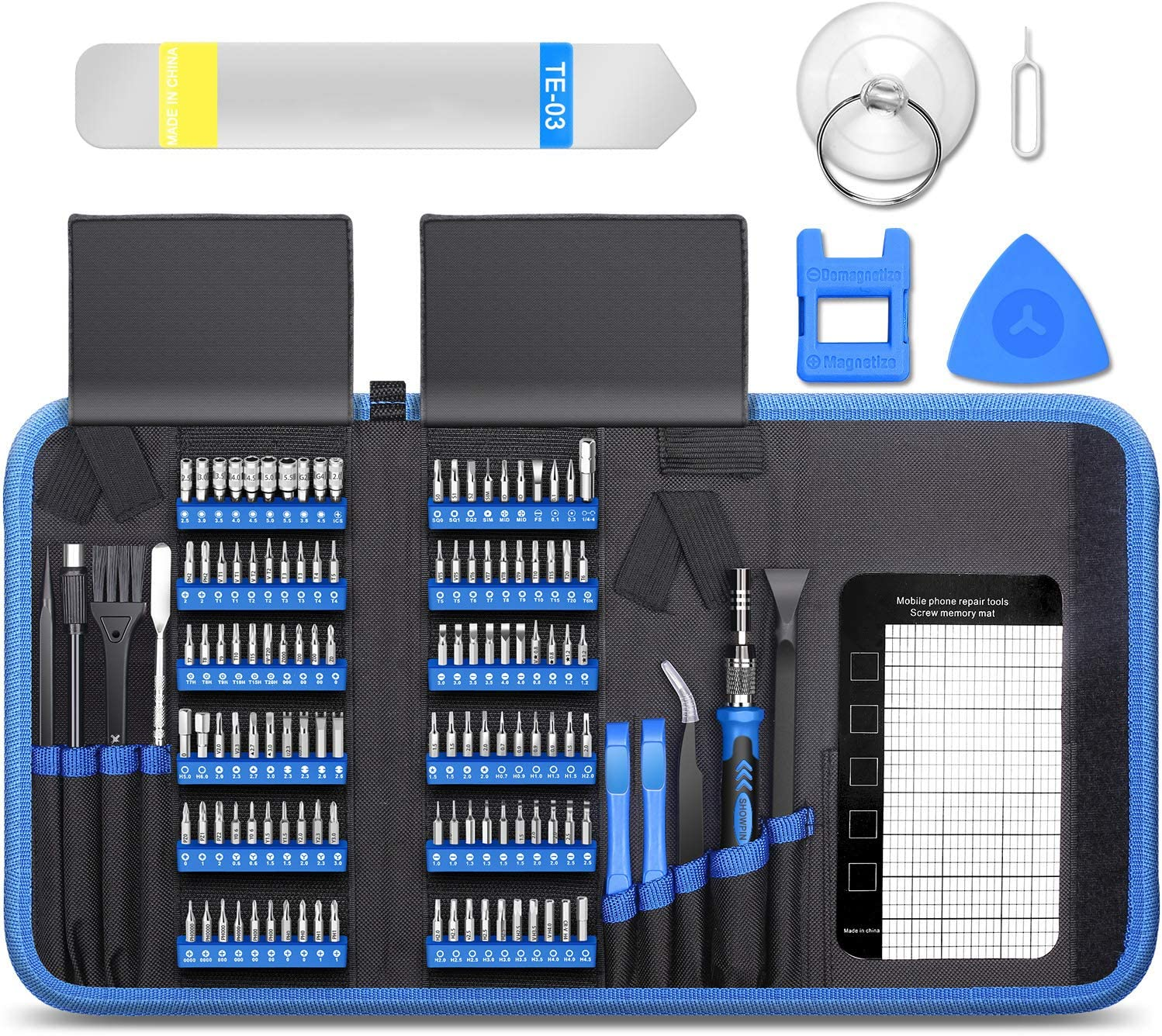 140 IN 1 Precision Magnetic Screwdriver Set for Computer, Professional Screen Repair Kit for iPhone, Samsung, Small Impact Screw Driver Set for HP Laptop, Asus PC, Glass,Ps4, Electronic DIY Hand Tools