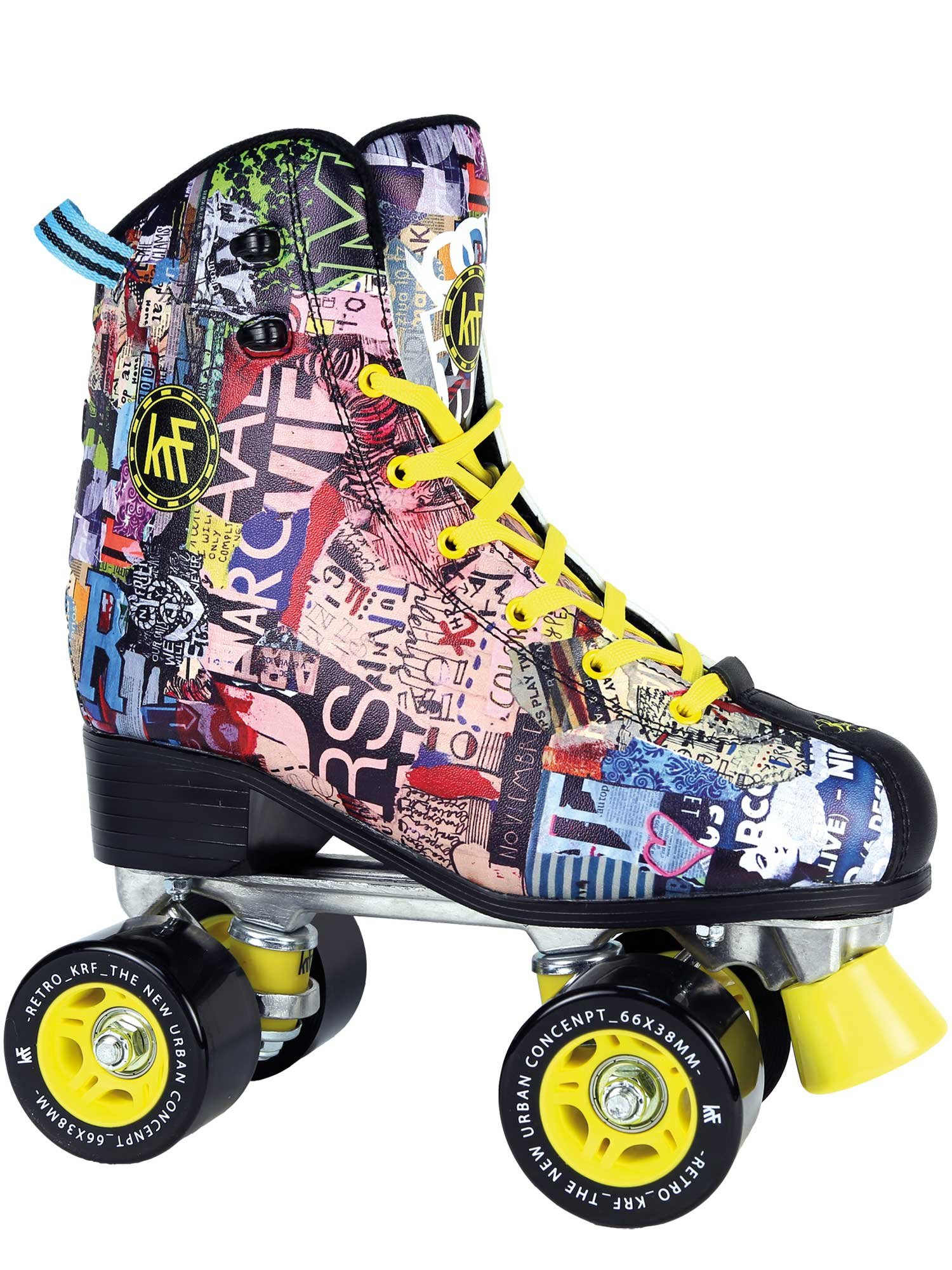 KRF The New Urban Concept Retro Art Fashion Junior Quad Roller Skates