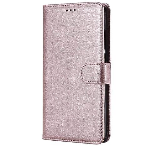 DENDICO Funda Huawei Mate 9, Ultra-Fina Flip Libro Carcasa de Cuero, Piel Protección Cover para Huawei Mate 9 - Rosa