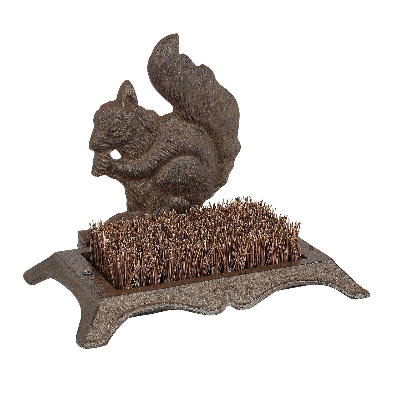 Gardman 82246 Squirrel Cast Iron Boot Scraper - Brown Gardman Ltd