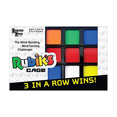 University Games Rubik's Cage Game, Head-to-Head Brain Teaser Strategy Game Based On The Rubik'S Cube for Ages 7 & Up, Multi: Toys & Games